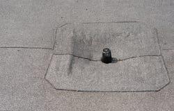 屋顶平台流失关闭 免版税库存照片