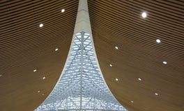 屋顶建筑学对称在马来西亚国际性组织Aiaport的 免版税图库摄影