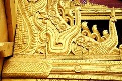 屋顶曼德勒宫殿在曼德勒, 免版税库存图片