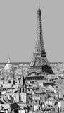 巴黎屋顶有埃佛尔铁塔的 免版税库存图片