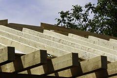 屋顶木匠业 免版税库存照片