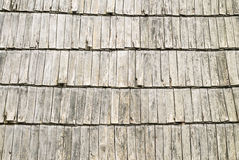 屋顶木木瓦纹理 图库摄影