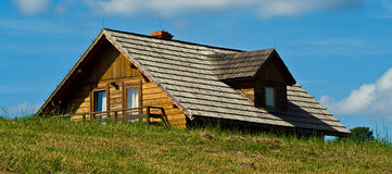 屋顶木瓦 库存照片