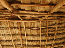屋顶村庄在泰国纹理背景中 免版税库存图片