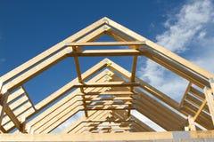 屋顶桁架。 库存图片