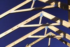 屋顶桁架 库存照片