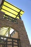屋顶楼梯 库存照片