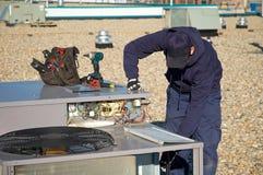 屋顶测试顶层部件 免版税库存照片