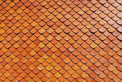 屋顶瓦片,砖红色颜色背景 库存图片