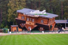 屋顶的之家 免版税库存照片