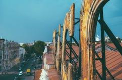 从屋顶的城市 库存图片