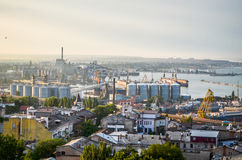 从屋顶的城市 图库摄影