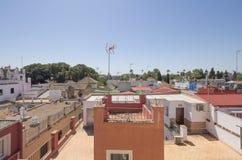 从屋顶的塞维利亚 库存照片
