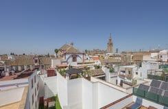 从屋顶的塞维利亚 库存图片