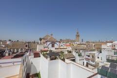从屋顶的大教堂 免版税库存图片