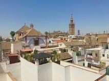 从屋顶的大教堂 图库摄影