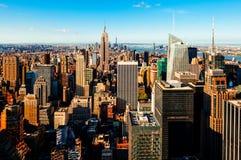 从屋顶的曼哈顿视图 免版税库存照片