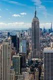 从屋顶的曼哈顿视图 免版税图库摄影