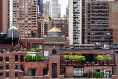 从屋顶的曼哈顿视图 免版税库存图片