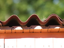 屋顶的末端 免版税库存图片