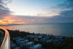 从屋顶的海滩胜地 图库摄影