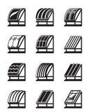 屋顶的现代建筑材料 免版税图库摄影