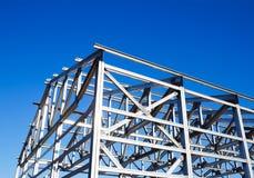 屋顶的金属框架 免版税库存照片