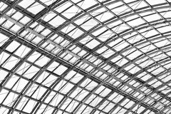 屋顶的金属框架 库存照片