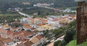 从屋顶的4K UltraHD视图, Silves在葡萄牙 股票录像