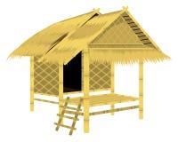 屋顶秸杆小屋 皇族释放例证