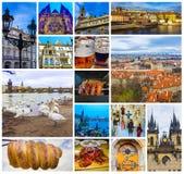 屋顶空中全景在老镇布拉格,捷克共和国的 免版税库存图片