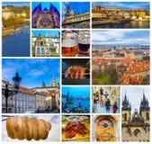 屋顶空中全景在老镇布拉格,捷克共和国的 免版税库存照片