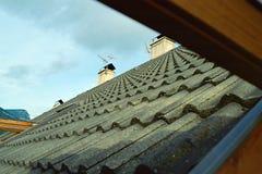 屋顶窗口视图 免版税库存图片