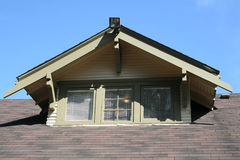 屋顶窗山墙 库存照片