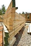 屋顶结构桁架 免版税图库摄影