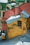 屋顶老大厦 免版税库存图片