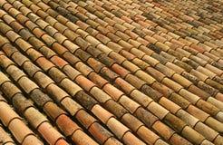 屋顶西班牙语瓦片 免版税库存照片