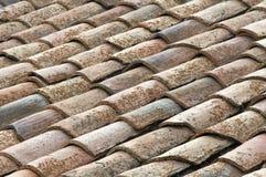 屋顶西班牙语瓦片 免版税库存图片