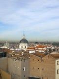 屋顶视图历史的现代大城市马德里西班牙欧洲 免版税库存照片