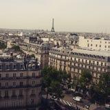 屋顶视图在巴黎 库存图片