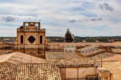 屋顶诺托,西西里岛,意大利 免版税库存照片