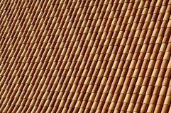 屋顶赤土陶器瓦片 免版税库存图片