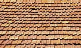 屋顶赤土陶器 库存图片