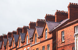 屋顶连栋房屋 库存照片