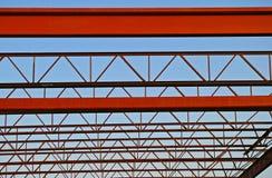 屋顶钢桁架 免版税图库摄影