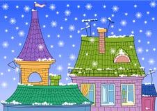 屋顶雪 库存图片