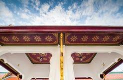 屋顶顶面泰国寺庙 免版税库存图片