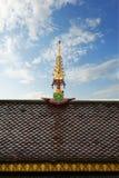 屋顶,佛教寺庙细节  图库摄影