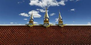 屋顶,佛教寺庙细节  库存图片