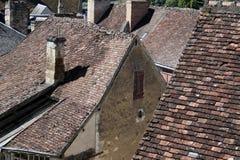 屋顶,瓦片等的抽象研究 库存照片